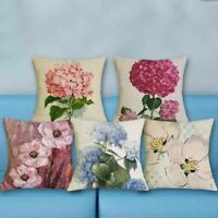 "18""*18"" Floral Decor Coussin Home Cover Oil Pillow Linen Cushion Case Printed"