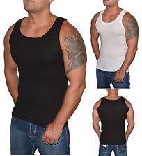 Retro Muskelshirt - Slim Fit Achselshirt - Tank Top Weiß oder Schwarz- S bis 5XL