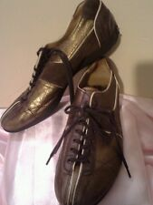 CAR SHOE woman leather/suede sz.36 lace up.Made in Italy