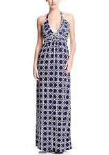 TART Collections 'Tiffany' Navy Geo Print Maxi Dress Sz M Beautiful & Sexy!