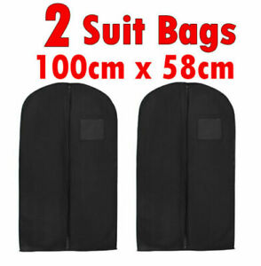 Zip Up Hanging Suit Dress Coat Large Travel Bag Clothes Cover Storage Travel Bag