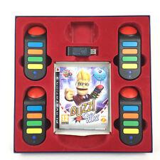Buzz Quiz World Sur PS3 Playstation 3 + 4 Buzzers Sans Fil / Pack