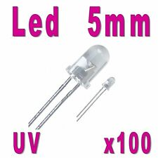 100x LED 5mm Ultra Violet 1000mcd