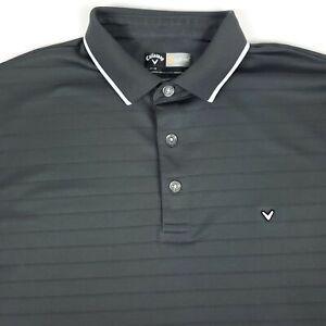 Callaway Golf Opti Dri Fit Gray Mens Short Sleeve Polo Shirt Size Medium