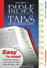 Bible Bookmark Index Tabs LONG LASTING Yellow & Blue COMPLETE SET - EZ Install
