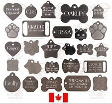STAINLESS DOG CAT PET TAGS CHARM CUSTOM ID DIAMOND ENGRAVED BOTH SIDES