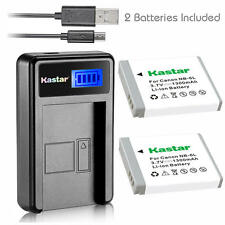 NB-6L Battery& Charger for Canon PowerShot SX530 HS, SX540 HS, SX610 HS,SX710 HS