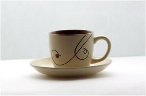 6 oz Espresso Cup & saucer set Ceramic Matt Finish porcelain Ivory coffee mug