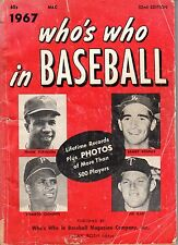 1967 Who's Who in Baseball Sandy Koufax, Dodgers Roberto Clemente Pirates POOR