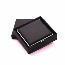 Black Genuine Leather Cigarette Case Box Hold For 20 Cigarettes With Gift Box