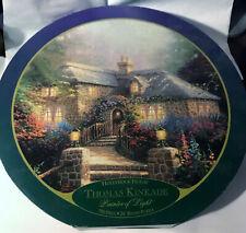 Vintage 1999 Thomas Kinkade Round Jigsaw Puzzle Hollyhock House