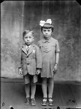 Old Photo. Romania. Brother & Sister