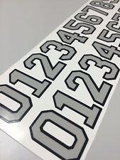 "Hockey Football Softball  Lacrosse Baseball Helmet Thick Number Stickers 1.25 """