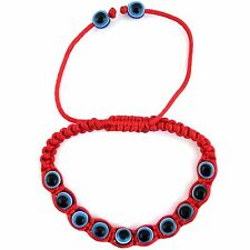 Red Blue Evil Eye Shamballa Bead Bracelet Good Luck Protection Adjustable