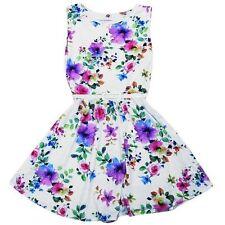 Abbigliamento bianchi in estate per bambine dai 2 ai 16 anni Taglia 7-8 anni