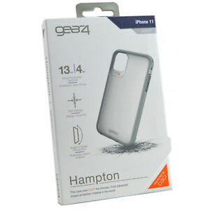 New Genuine Gear4 Hampton D30 Rugged Slim Frost Clear Case Cover For iPhone 11