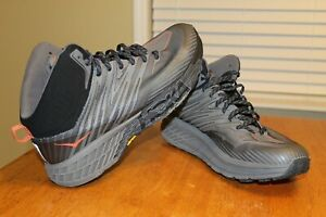Hoka One One Speedgoat Mid 2 Men's Gore-Tex Hiking Shoes Gray 1106532 Lace Up 13