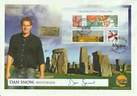 23 APRIL 2007 CELEBRATING ENGLAND FDC HAND SIGNED BY TV PRESENTER DAN SNOW SHS