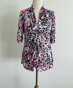 Anthea Crawford Side M Women's Shirt Top Blouse Stretch Polyester