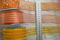 Wired Edge ORANGE & YELLOW Polyester 38mm Wide 2&3 Metres 3 Design Styles Choice