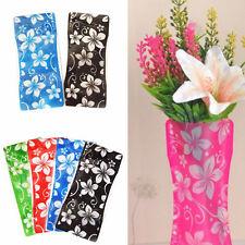 2x Foldable Plastic Unbreakable Reusable Flower Decor Vase Color Random New