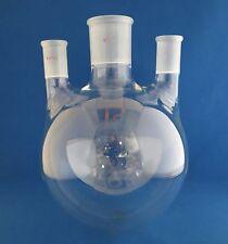 Reliance 3000mL 3 Neck Round Distilling Flask  Center 45/50 Sides 24/40