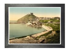 Criccieth Castle From The Parade North Wales Landscape Vintage Retro Poster