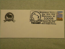 WISCONSIN History Sesquicentennial 150 Year Postal Stamp 1998 Watertown 53098