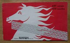 FERRARI 250 EUROPA 375 AMERICA original 1953 Sales Brochure - ENGLISH
