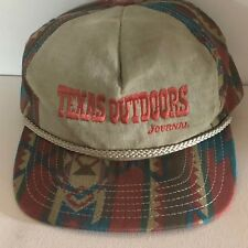Aztec Design cap hat Braided rim Texas Outdoors
