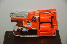 Orange Dart Gun Nerf Guns N-Strike Zombie Strike Flipfury Blaster Double Barrel