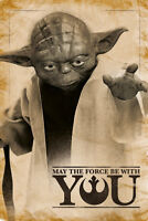Star Wars - Master Yoda May The Force - Film Kino - Poster Druck