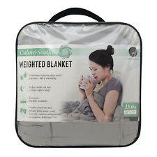 Weighted Blanket 15 lbs. - Soft Microfiber with Glass Beads 48 x 72