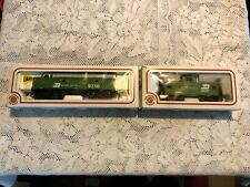 BACHMANN HO SCALE BURLINGTON NORTHERN LOCO f9 diesel & Steele box car IN BOX