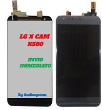 GLS DISPLAY LCD +TOUCH SCREEN per LG X-CAM K580 GRIGIO NERO VETRO NUOVO RICAMBIO