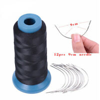 1 Roll Weaving Thread Hair Wig Making Pins T-type C Curve Needle DIY Craft Tool