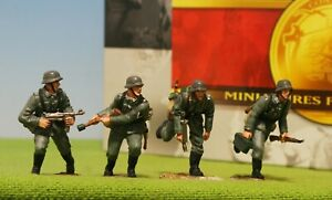 "CONTE #WWII007 GERMAN Infantry ""FRONTAL ATTACK - LEAD FIGURE SOLDIER SET - MIB🔥"