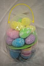 "NEW 40 Count Jumbo EGGS Hunt Pastel DESIGNS 3"" - 2.2"" Egg Easter Game CANDY 3+"