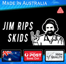Vinyl Car Sticker - JIM Rips Skids White JDM HONDA SUBARU TOYOTA DRIFT