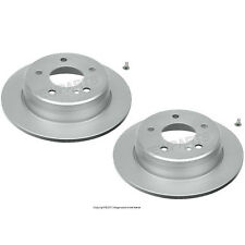 For MB W124 300D W201 190D Set of 2 Rear Solid Brake Disc Rotors Ate Coated