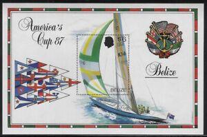 Belize 1987 America's Cup $6 Australia II Souvenir Sheet- Sc #862 - pw61