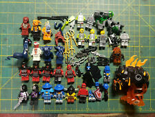 Lot of Lego Minifigures & Accessories Nexo Ninjago Atlantis Aqua Rock Raiders