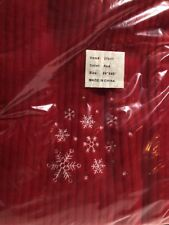 Red Fleece Blanket Throw Snowflakes 50 x 60 Soft Polyester New