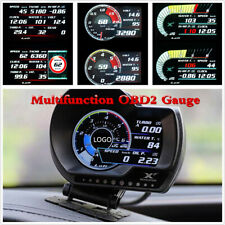 Car Dashboard OBD2 OBD Speedometer Fuel Level Oil Meter Temperature Multi-Gauge