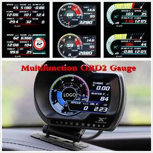 Car Dashboard OBD2 OBD Speedometer Fuel Level Oil Meter Temperature Multi-Gauge