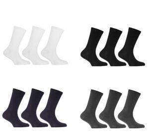 Pack of 3 ,6,12 Pairs Boys Girls Kids Plain Cotton Rich Socks Ankle School Socks