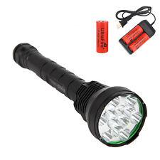 Trustfire 15000Lm 12x  XML T6 LED Linterna Lampara 3x 26650 batería Cargador
