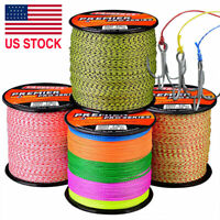 300M Power PE Spectra Braided Fishing Line 4 Strands Premium Stealthy 6LB-100LB