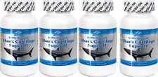 4x 100 % Natural Shark Cartilage, 750mg, 100x4=400caps