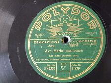 78 RPM Paul Godwin Trio Ave Maria/Händel-Largo